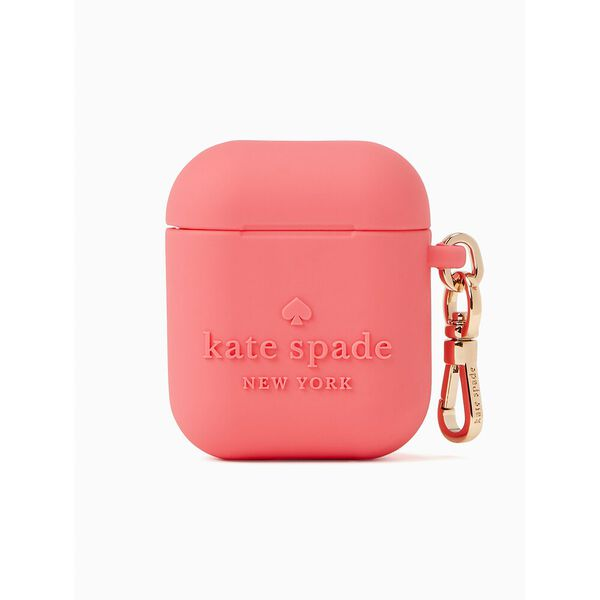 embossed silicone kate spade logo airpod case
