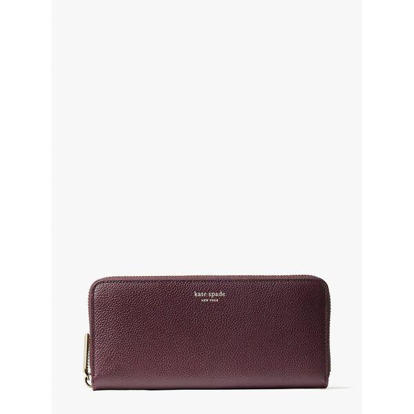 margaux slim continental wallet, DEEP CHERRY, hi-res