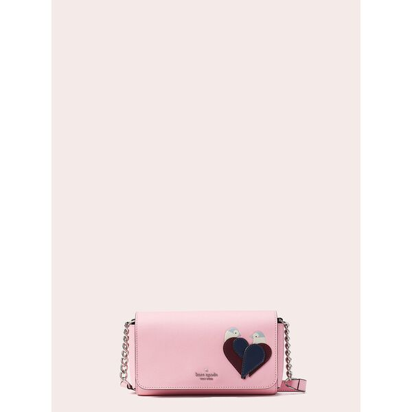 love birds small flap crossbody