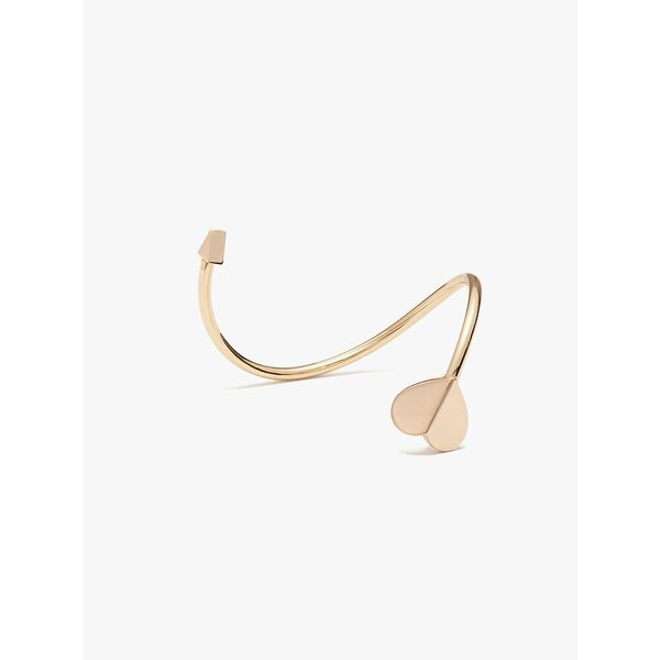 heritage metal spade flex cuff, rose gold, hi-res