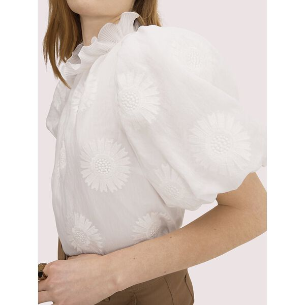 bloom organza top, fresh white, hi-res
