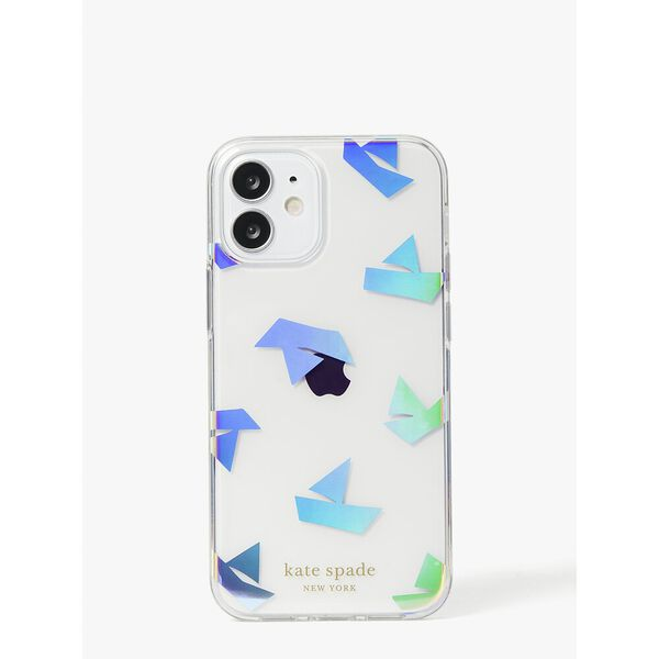 paper boats iphone 12 mini case, clear, hi-res