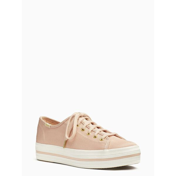 keds x kate spade new york triple kick faille sneakers