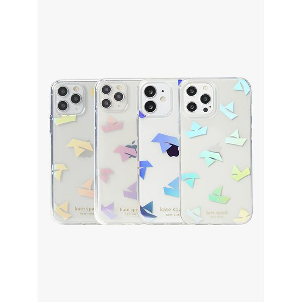 paper boats iphone 12/12 pro case, clear, hi-res