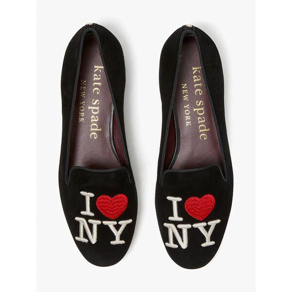 lounge new york flats, black, hi-res