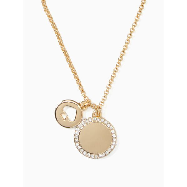 spot the spade pave charm pendant, clear/gold, hi-res