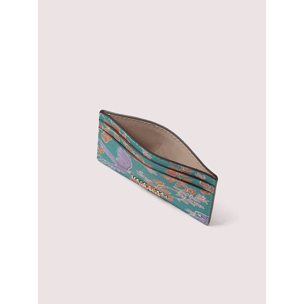 spencer bird party cardholder, fiji green multi, hi-res