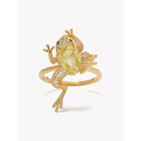 nature walk frog ring, green, hi-res