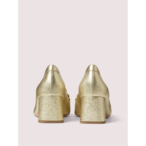 yarrow fringe pumps, gold, hi-res