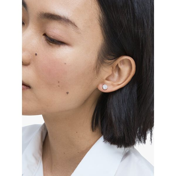 something sparkly pavé studs, CLEAR/SILVER, hi-res