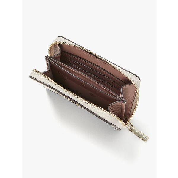 spencer zip cardholder, warm beige/black, hi-res