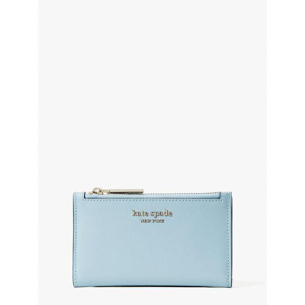 spencer small slim bifold wallet, teacup blue, hi-res