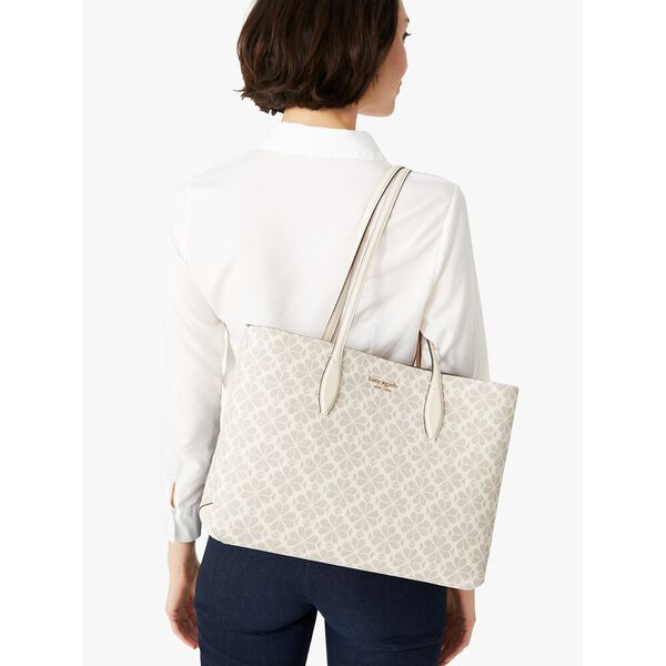 spade flower coated canvas all day large tote, parchment multi, hi-res