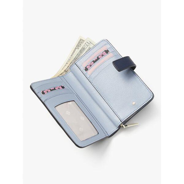spencer compact wallet, crystal blue, hi-res