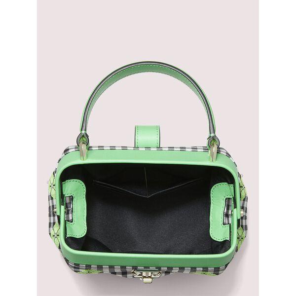 remedy gingham small top-handle bag, GREEN MULTI, hi-res