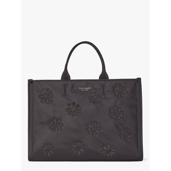 the little better sam embroidered nylon large tote