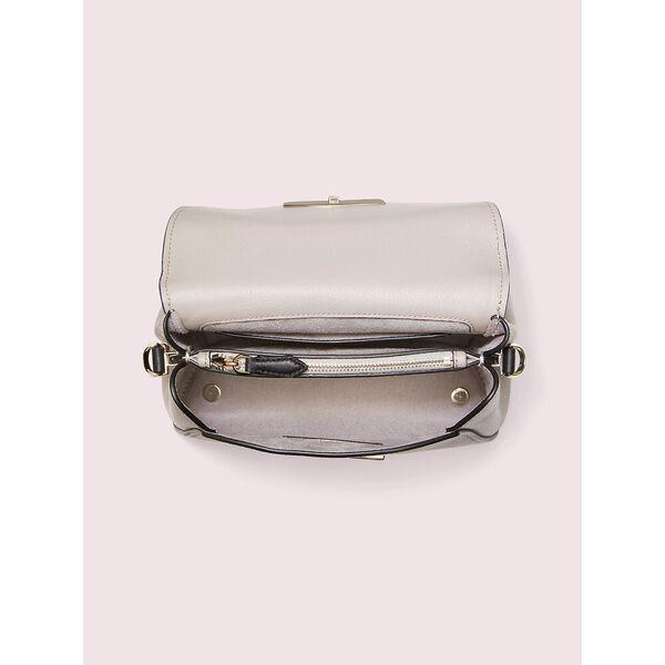 grace small top handle satchel, warm taupe/black, hi-res