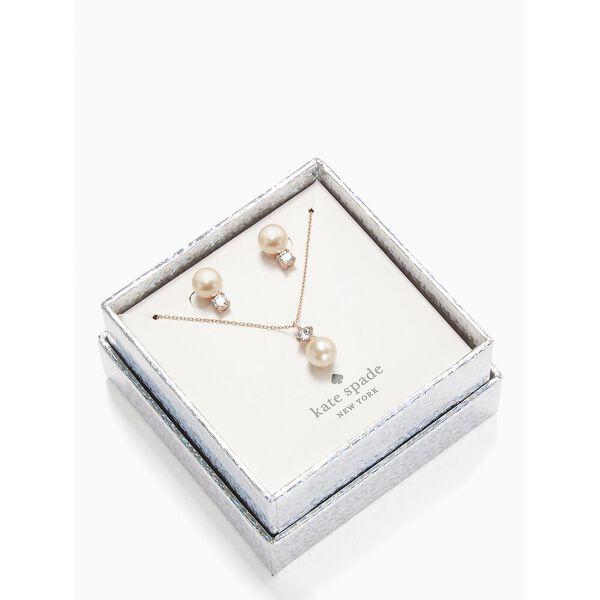 pearls of wisdom stud and pendant set, blush multi, hi-res