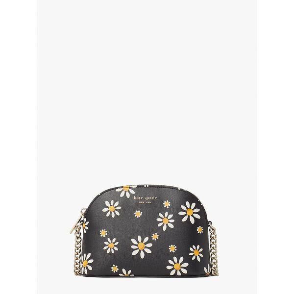 spencer daisy dots small dome crossbody, black multi, hi-res