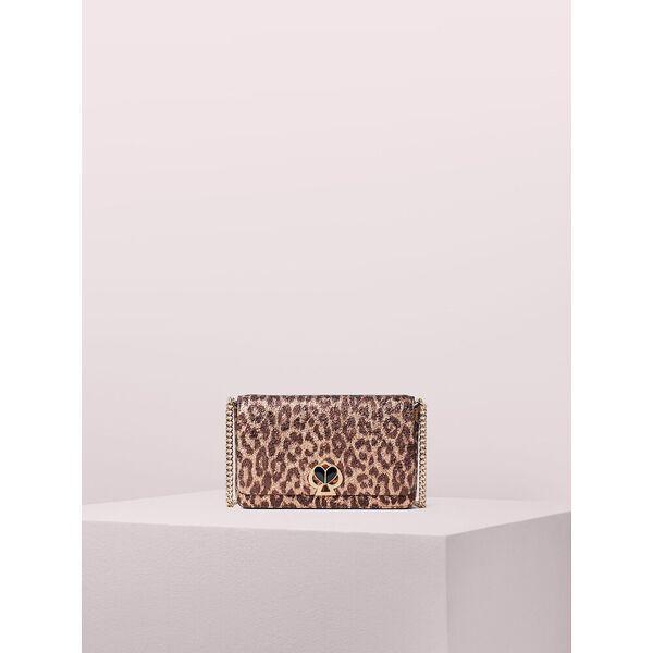 nicola metallic leopard twistlock chain wallet