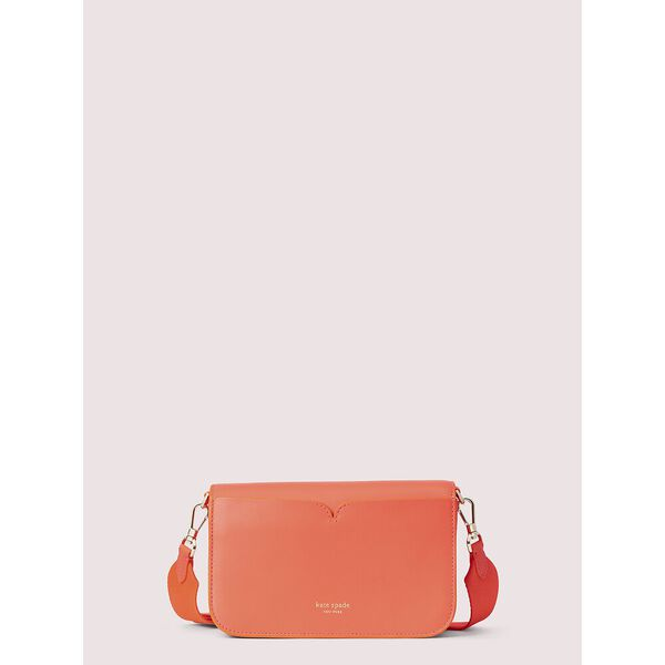 nicola twistlock medium sling bag, RADIANT CORAL, hi-res