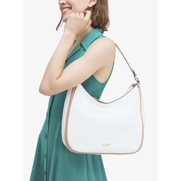 roulette large hobo bag, PARCHMENT MULTI, hi-res