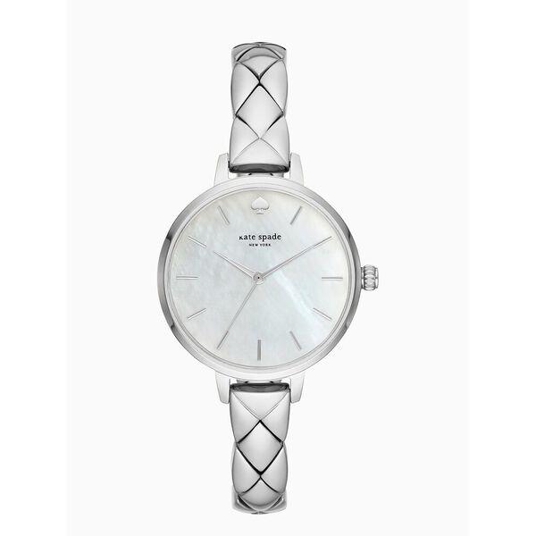 metro scallop stainless steel bracelet watch