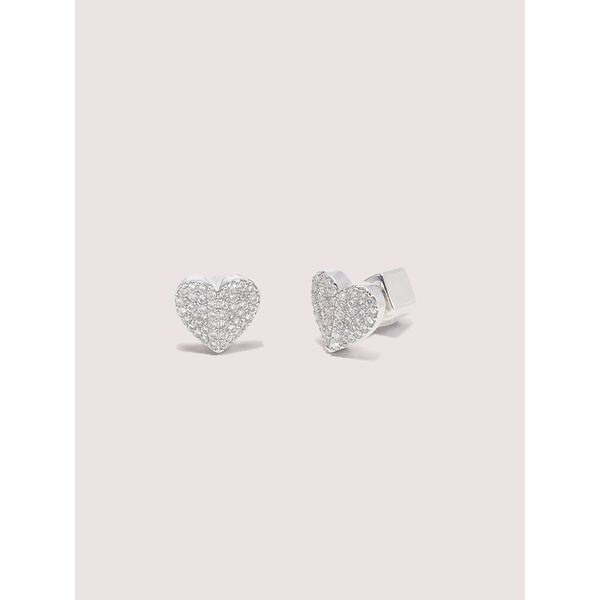 heart to heart pavé small heart studs