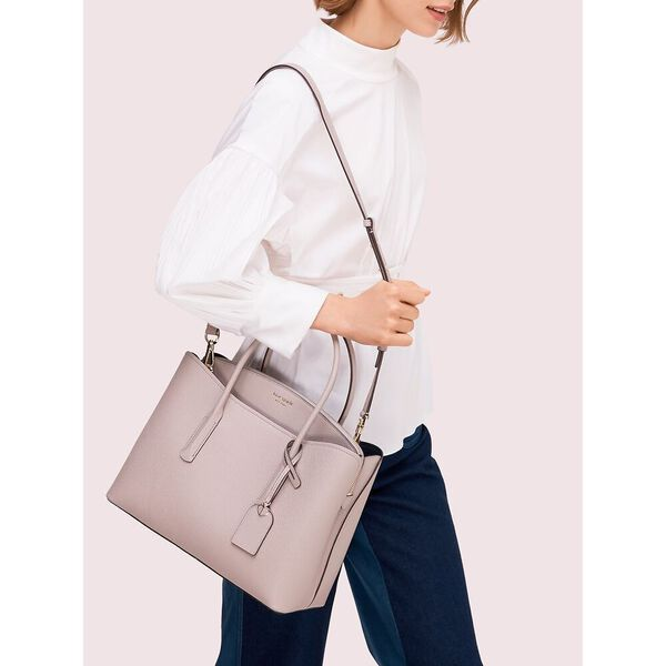 margaux large satchel, true taupe, hi-res