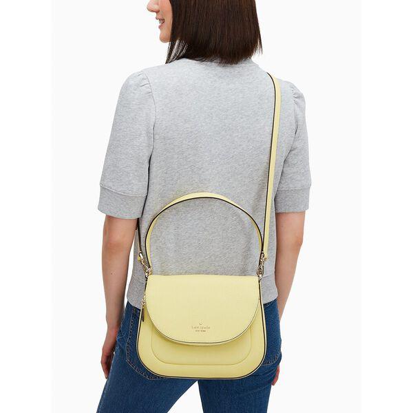 leila medium flap shoulder bag, black/white, hi-res