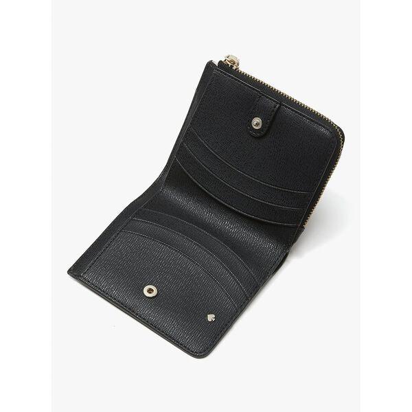 disney x kate spade new york minnie mouse small bifold wallet, black multi, hi-res