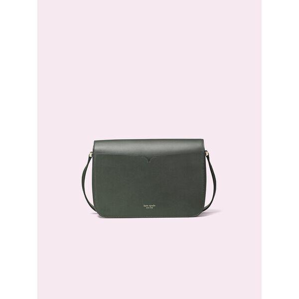 nicola twistlock medium shoulder bag, deep evergreen, hi-res