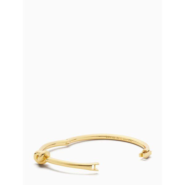 sailor's knot hinge bangle, GOLD, hi-res