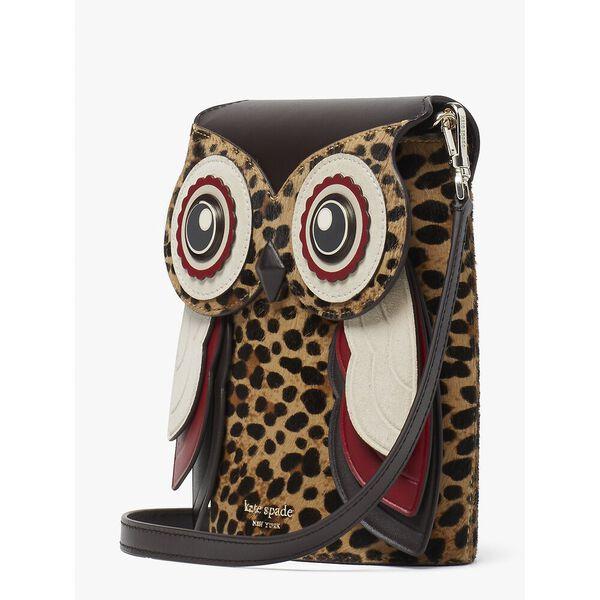 blinx leopard 3d owl crossbody, multi, hi-res
