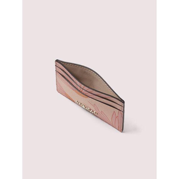 spencer falling flower cardholder, pink multi, hi-res