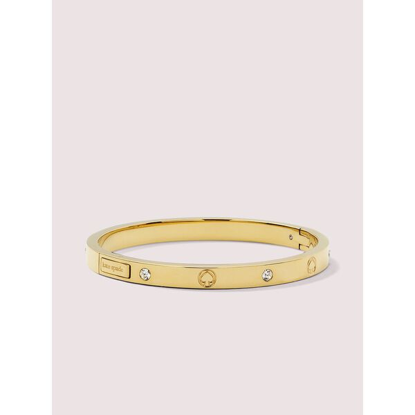 infinite spade engraved spade bangle, gold, hi-res
