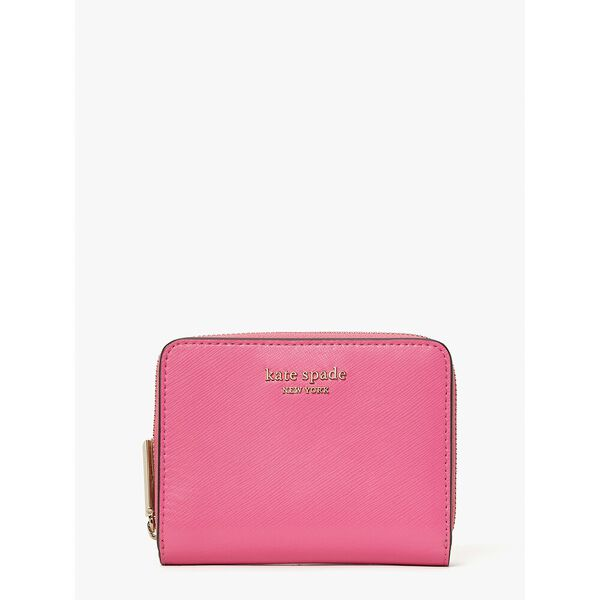 spencer small compact wallet, rose, hi-res