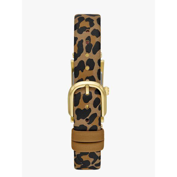 brookville leopard leather watch, leopard, hi-res