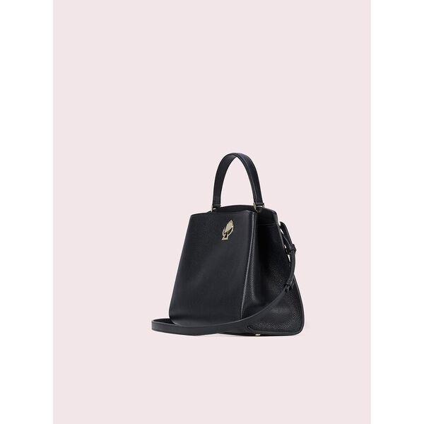romy medium satchel, black, hi-res