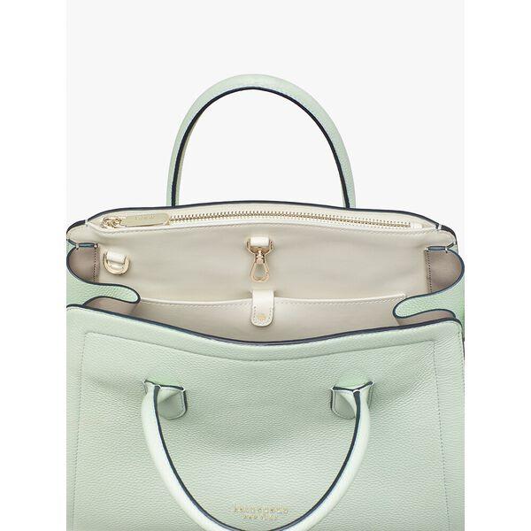 knott large satchel, crystal blue, hi-res
