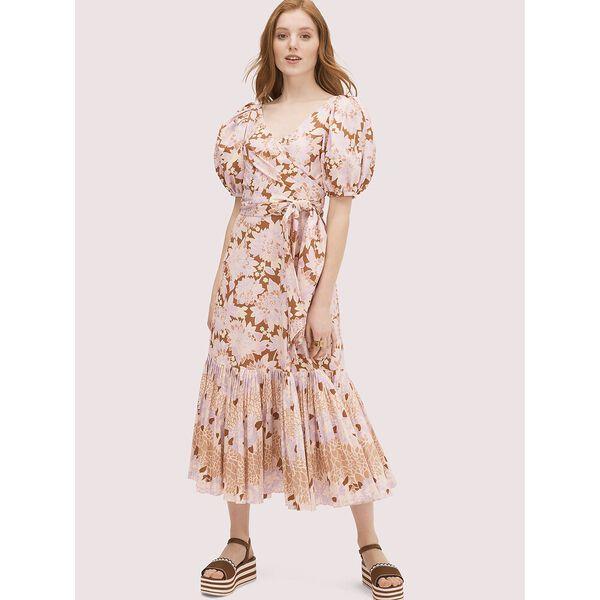 exotic bloom poplin dress