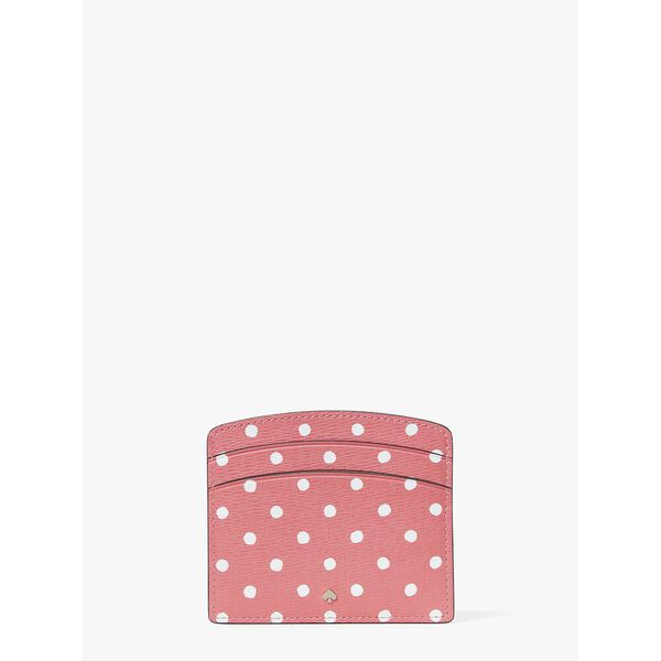 spencer dots cardholder, peach melba multi, hi-res