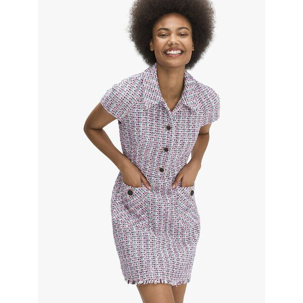 enchanted tweed shirtdress