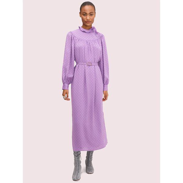 dotty ruffle dress