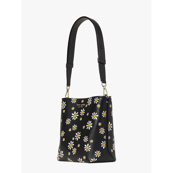 river daisy dots medium bucket bag, black multi, hi-res
