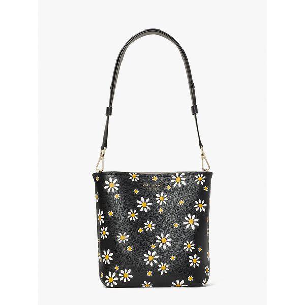 river daisy dots medium bucket bag