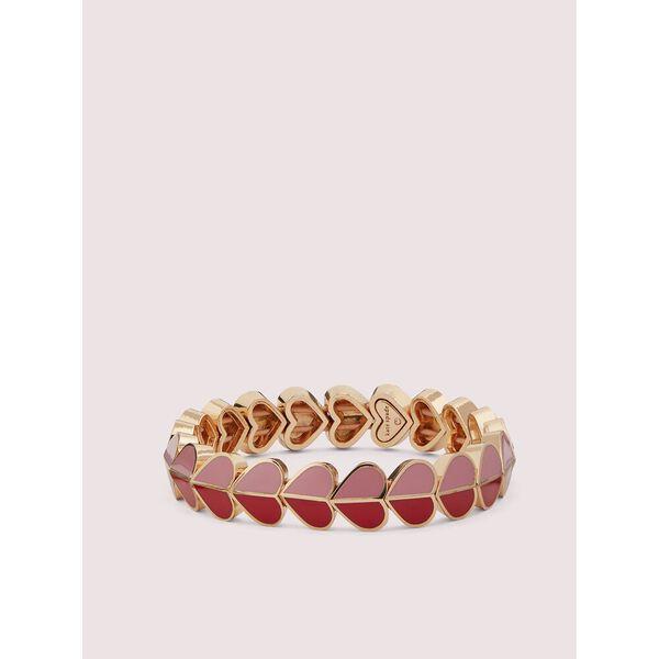 heritage spade enamel heart stretch bracelet, Pink Multi, hi-res