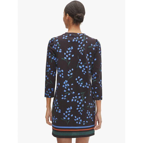 sea breeze floral tee dress, black, hi-res