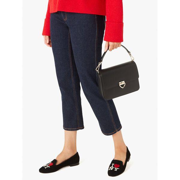 lovitt medium convertible shoulder bag, black, hi-res