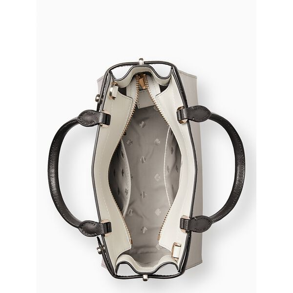 staci colorblock small satchel, warm beige multi, hi-res